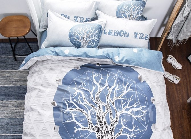 High Class Mysterious Tree 4-Piece Cotton Duvet Cover