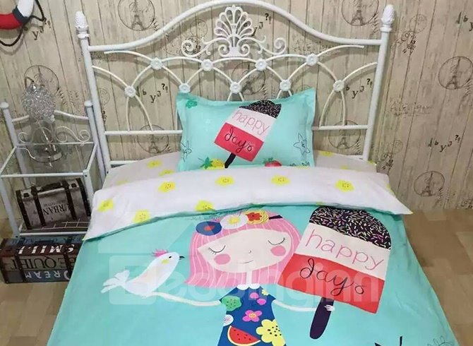 Graceful Fresh Princess Style 4-Piece Cotton Duvet Cover Sets