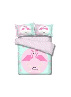 High Class Elegant Lovely Birds Image 100% Cotton 4-Piece Duvet Cover Sets