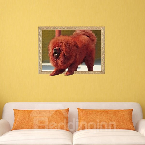 awesome tibetan mastiff removable 3d wall sticker awesome 85 birthday wall sticker by peacockcards