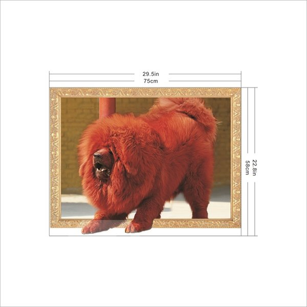 awesome tibetan mastiff removable 3d wall sticker awesome 3d wall stickers for your home decor