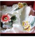 Gorgeous Ceramic Flowers Decorative Coffee Cup