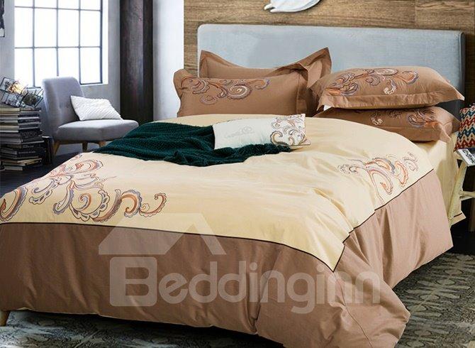 Popular Novel Design Cotton 4-Piece Duvet Cover Sets
