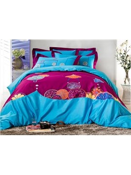Unique Fresh Style Cotton 4-Piece Duvet Cover Sets