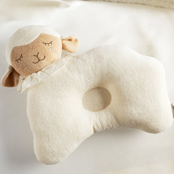 Adorable Sheep Shape Cotton Baby Pillow Prevent Flat Head