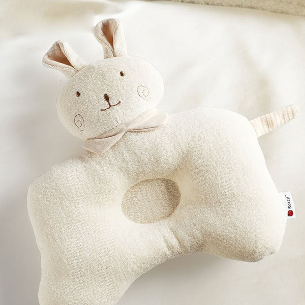 Super Cute Rabbit Design Prevent Flat Head Baby Pillow