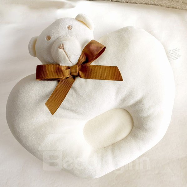 Round Shape Bear Design Prevent Flat Head Baby Pillow
