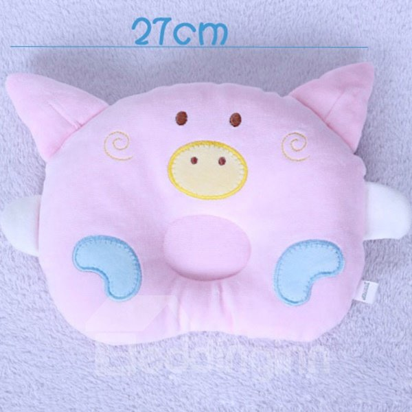 Lovely Piggy Face Shape Prevent Flat Head Baby Pillow
