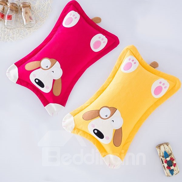 Lively Big Ears Puppy Print Baby Pillow