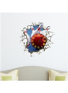 Hot Selling 3D Bowling Wall Clock