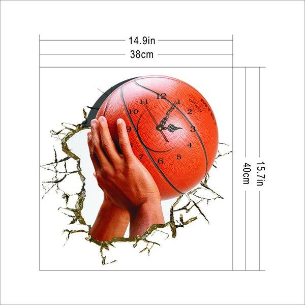 Sporty Design 3D Wall Clock