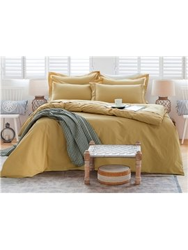 Modern Minimalist Style Cotton 4-Piece Duvet Cover Sets
