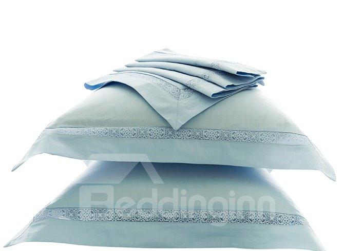 Pretty Charming Lace-Trimmed Cotton 4-Piece Duvet Cover Sets