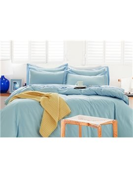 Pretty Charming Lace-Trimmed Cotton 4-Piece Duvet Cover Sets