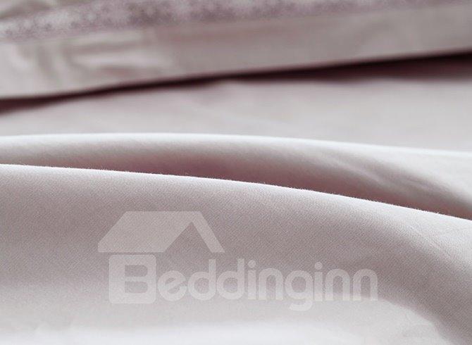 Elegant Concise Style Cotton 4-Piece Duvet Cover Sets