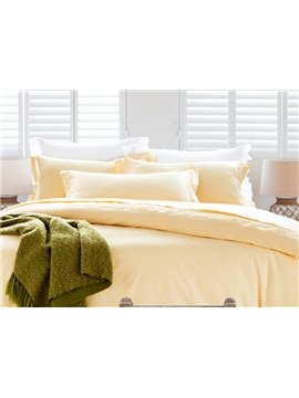 Classical Noble Lace-Trimmed Cotton 4-Piece Duvet Cover Sets