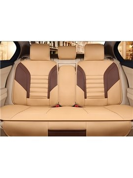 Classic Waterproof Dual Colored PU Leather Universal Five Car Seat Covers