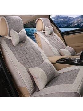 Ventilate Concis Pure Colored Linen Five Seats Car Seat Covers