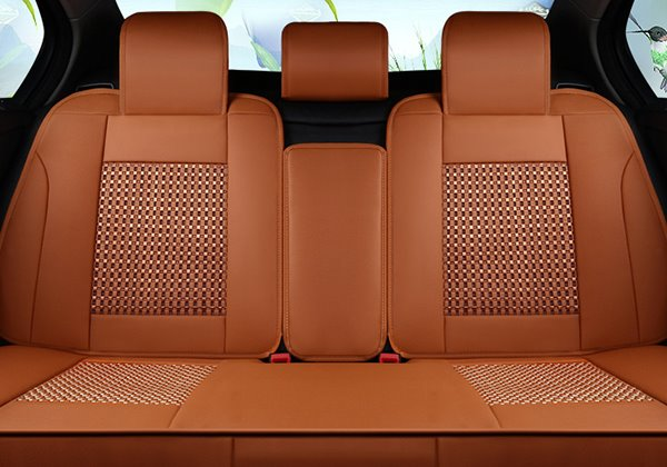 Ventilate Sports Style Pure Colored Ice Silk Material Universal Five Car Seat Covers