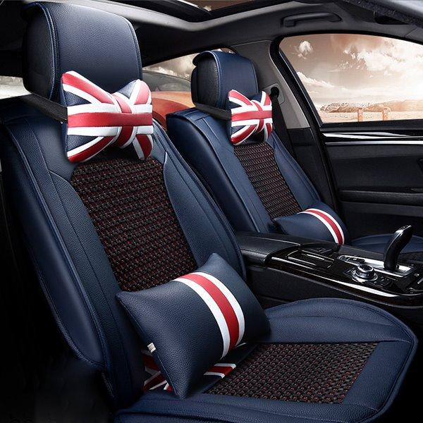 Modern Ventilate and Anti-Skid Ice Silk Five Seats Car Seat Covers