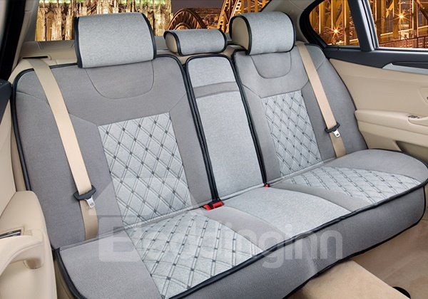 Ventilate and Comfortable Concise Pure Colored Five Seats Car Seat Covers