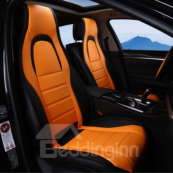 Comfortable Unique Designed Dual Colored Five Seats Car Seat Covers