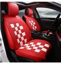 Durable Sports Style Plaid Patterned Five Seats Car Seat Covers