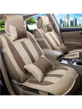 Ventilate Concise Linen Five Seats Car Seat Covers