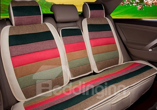 Ventilate and Antiskid Dual Colored Five Seats Car Seat Cover