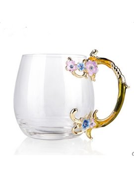 Beautiful Creative Flower Glasses Tea Cup-Perfect Present