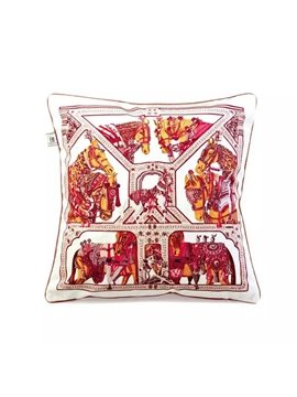 Granny-Chic War-Horses PaintThrow Pillow