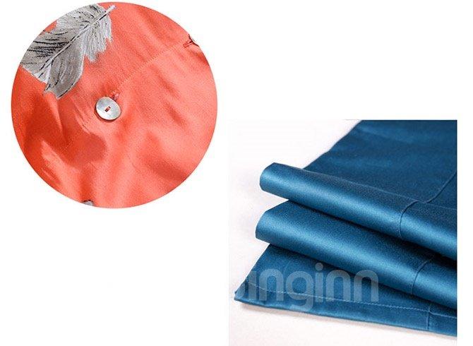 High Quality Neutral Orange Cotton 4-Piece Duvet Cover Sets