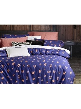 Creative Design Constellation Cotton 4-Piece Duvet Cover Sets