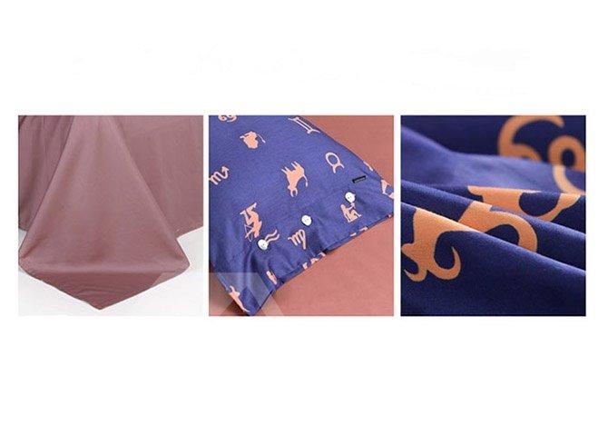 Creative Design Constellation Cotton 4-Piece Duvet Cover Sets