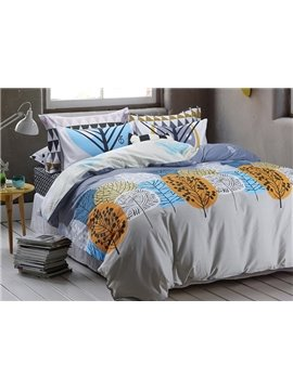 Fancy Graceful Tree Pattern Cotton 4-Piece Duvet Cover Sets