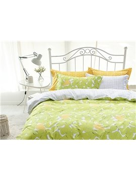 New Arrival Pear Pattern Cotton 4-Piece Duvet Cover Sets