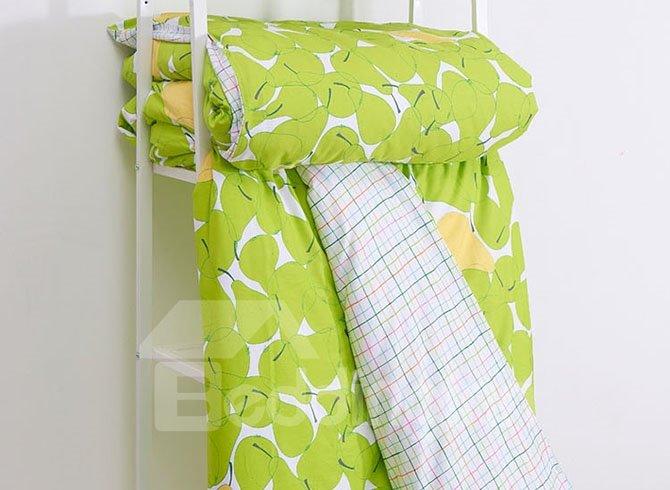 New Arrival Pear Pattern Cotton 4-Piece Duvet Cover Sets