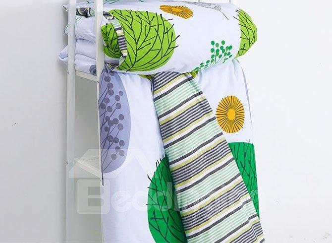 Cozy Color Tree Cotton 4-Piece Duvet Cover Sets