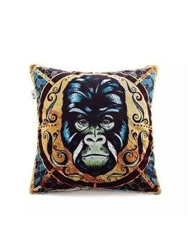 Gorilla Totem Paint Throw Pillow