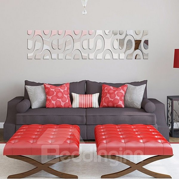 Fabulous Circle Pattern Removable Mirror 3D Wall Sticker