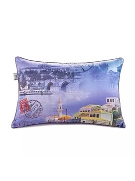 Italian Landscape Paint Throw Pillow