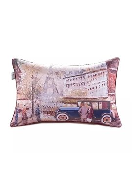 Europe Scenery Paint Throw Pillow