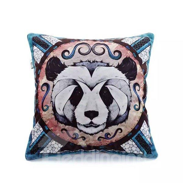 Cute Panda Paint Throw Pillow