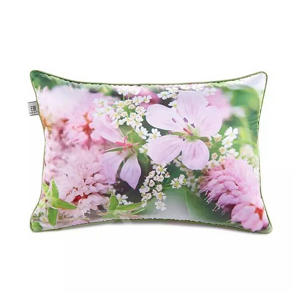 Lovely Pink Flowers Paint Throw Pillow