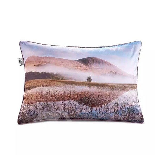 Broad Fields Paint Throw Pillow