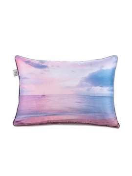 Glittering Sea Paint Throw Pillow