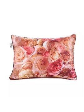 Lovely Full-Blown Roses Paint Throw Pillow