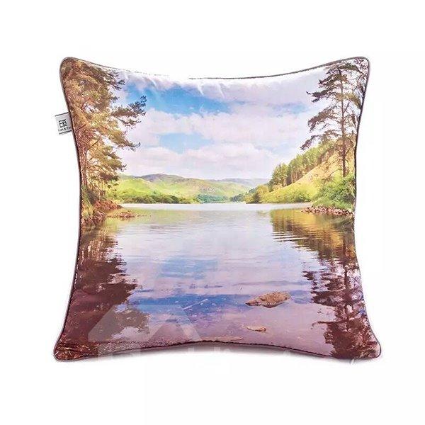 Calm lake Paint Throw Pillow