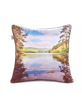 Calm lake Paint Throw Pillow