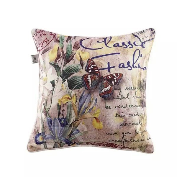 Butterfly and Lilies Paint Throw Pillow
